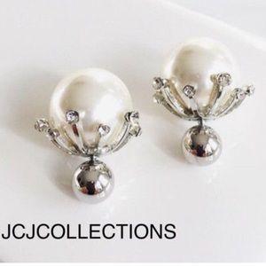 ✨Double Side Pearl & Crystal Earrings✨